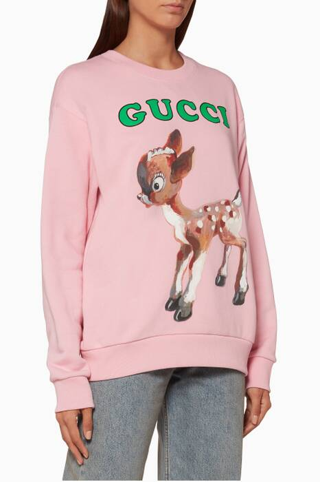 Light-Pink Oversized Logo & Fawn Sweatshirt