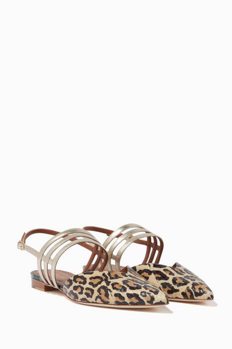 Multi-Coloured Liza Leopard Sandals