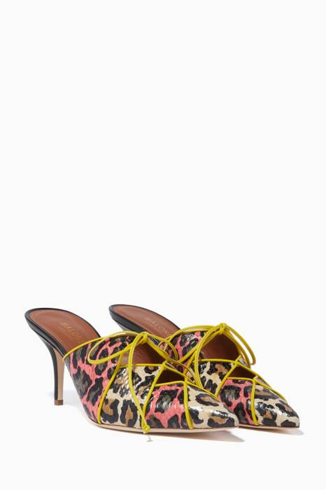 Multi-coloured Lulu Leopard Mules