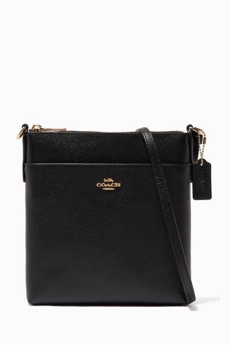 Black Messenger Cross-Body Bag