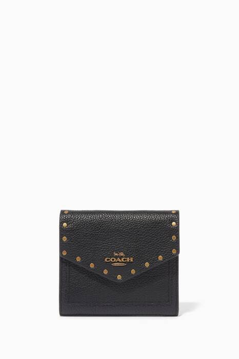 Black Rivet Small Wallet