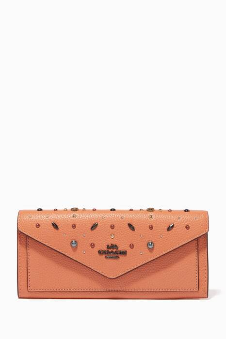 Dark-Blush Prairie Rivets Soft Wallet