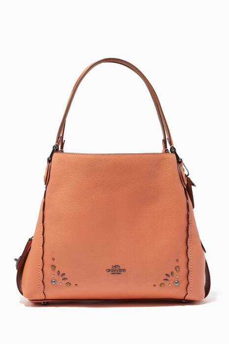 Dark-Blush Prairie Rivets Edie 31 Shoulder Bag