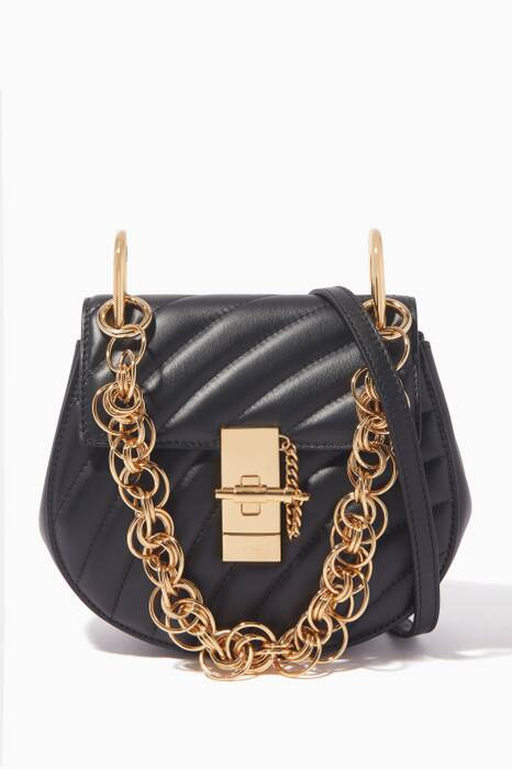 Black Mini Drew Bijou Shoulder Bag