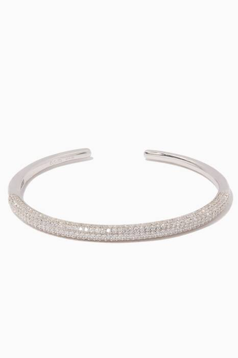 Silver & Zirconia Embellished Bangle