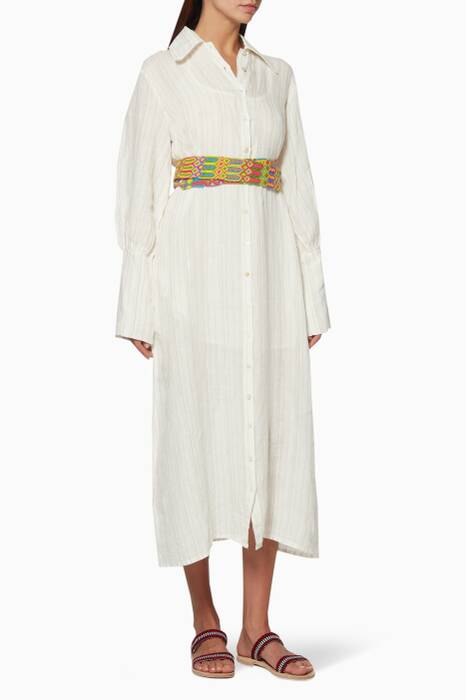 Beige Embroidered Jenny Dress