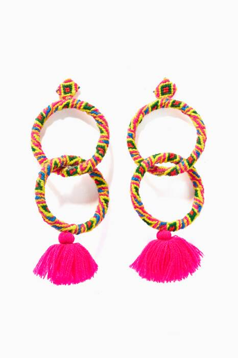 Pink Tasseled Maggie Earrings
