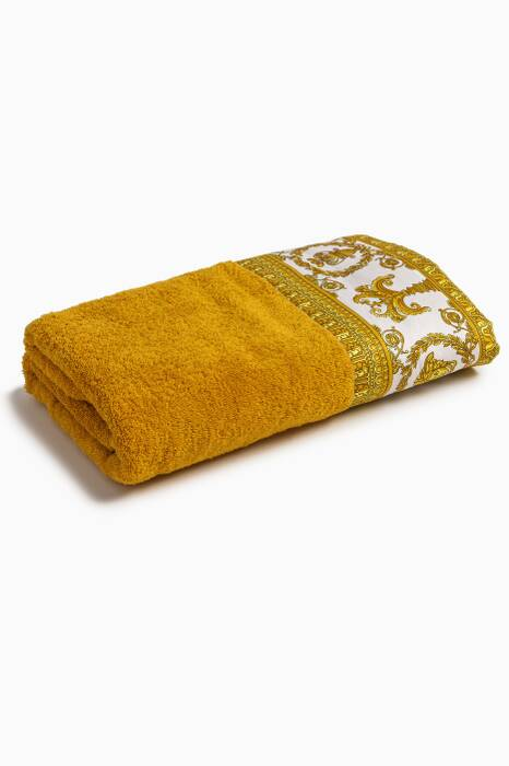 Gold & White Baroque Bath Towel