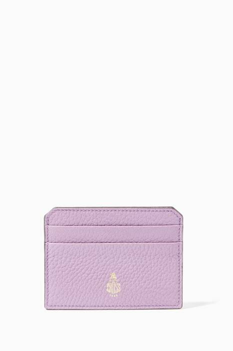 Purple Leather Cardholder