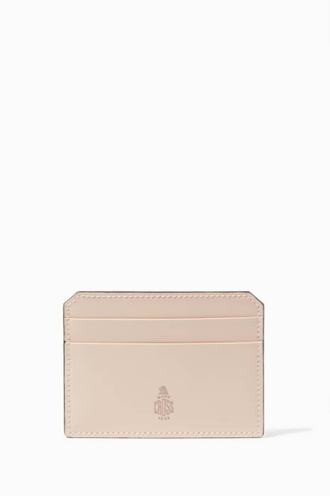 Light-Beige Leather Cardholder