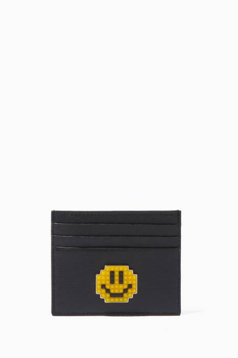 Black Smile Leather Cardholder