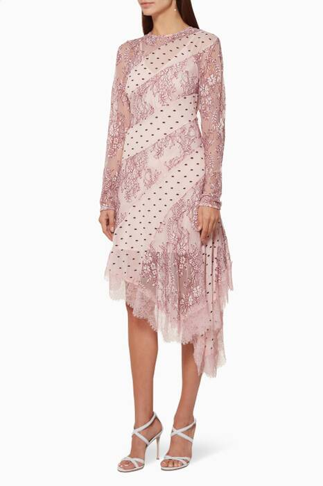 Light-Pink Hold On Long-Sleeve Dress
