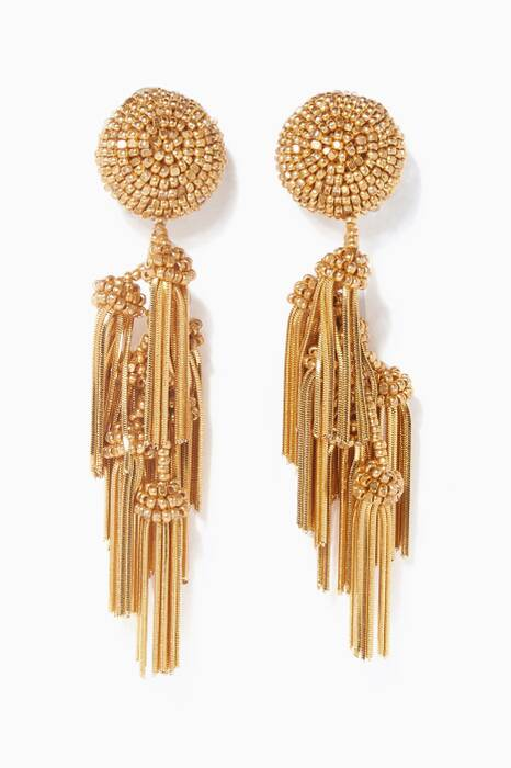Gold Chacha Tasseled Earrings