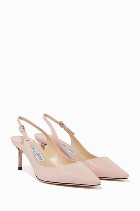 Rosewater-Pink Patent Erin 60 Pumps