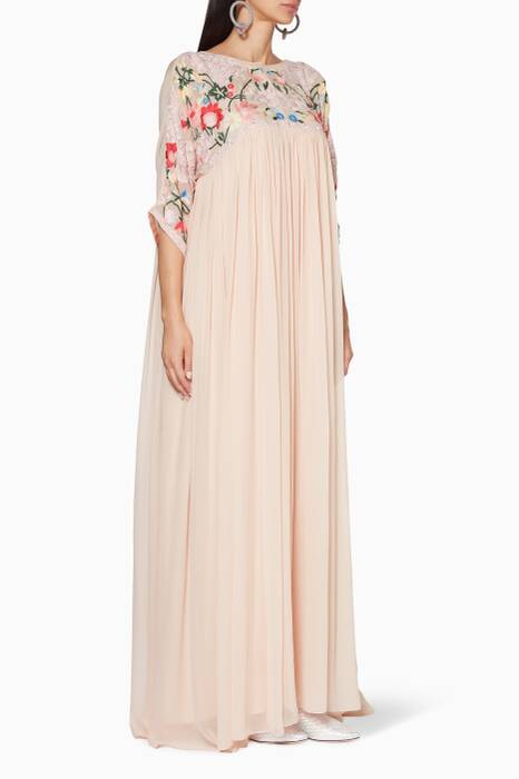 Pastel-Pink Embroidered Megan Gown