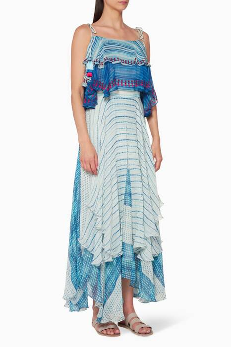 Blue Frontier Printed Dress