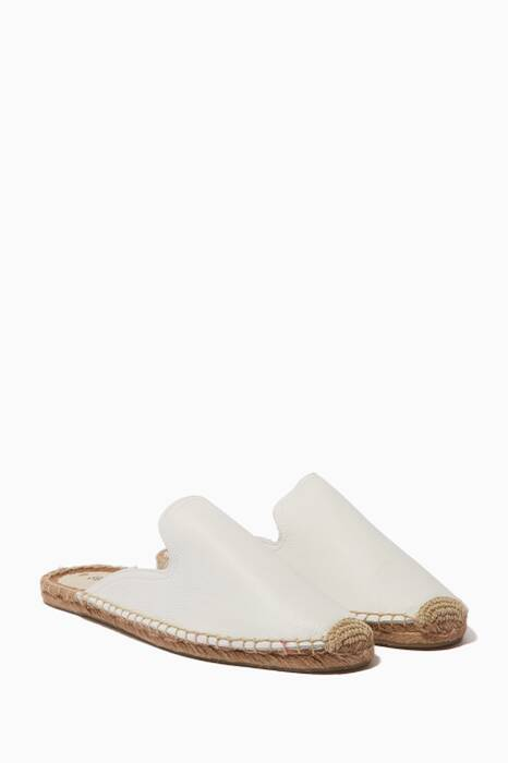 White Tumbled Leather Mules