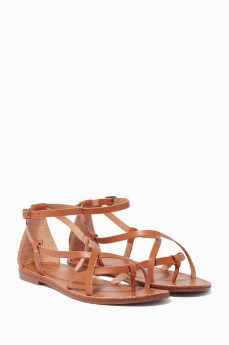Light-Brown Amalfi Leather Sandals
