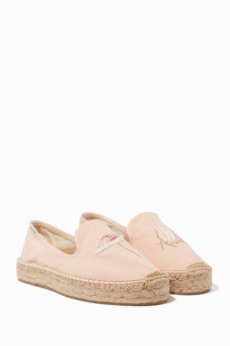 Light-Pink Beach Day Smoking Slippers