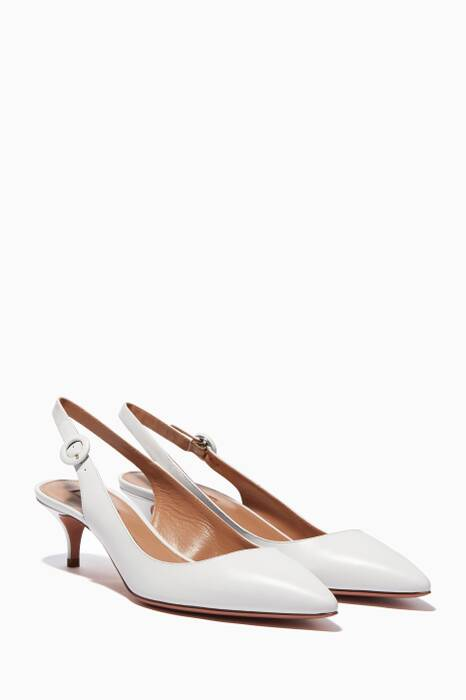 White Pure Slingback Pumps