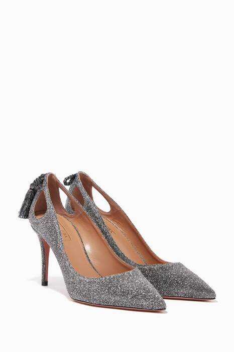 Silver Lurex Forever Marilyn Pumps