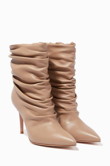 Brown Cecile Leather Boots