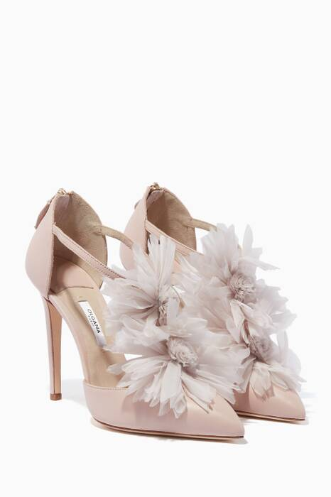 Light-Pink La Malicieuse Chrysantheme Pumps
