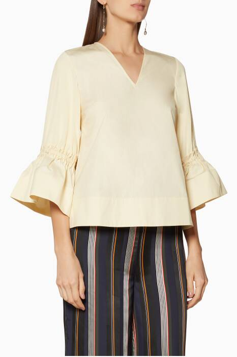 Off-White Bell-Sleeve Aspen Top