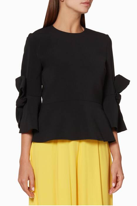 Black Kemi Peplum Top
