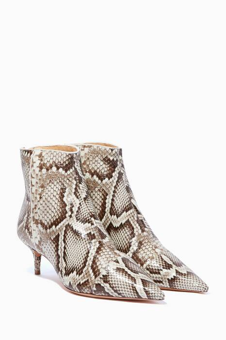 Grey Python Kitty Boots