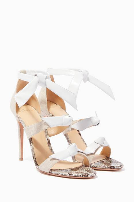Light-Beige Lolita Three-Bow Sandals