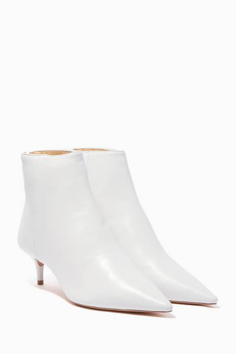 White Kitty Point Toe Boots