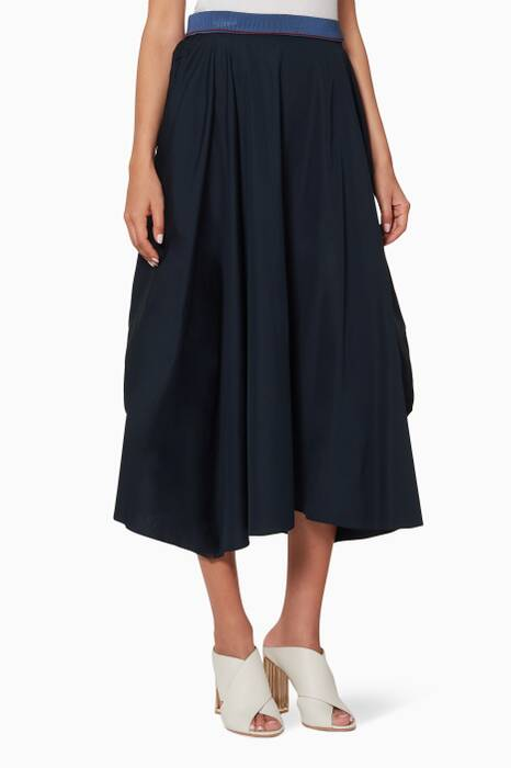 Navy Marrano Skirt