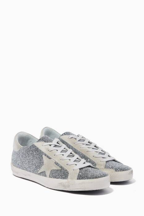 Silver Swarovski Crystal Superstar Sneakers