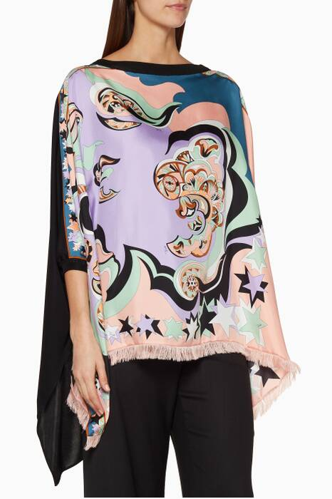 Multi-Coloured Printed Edie Top