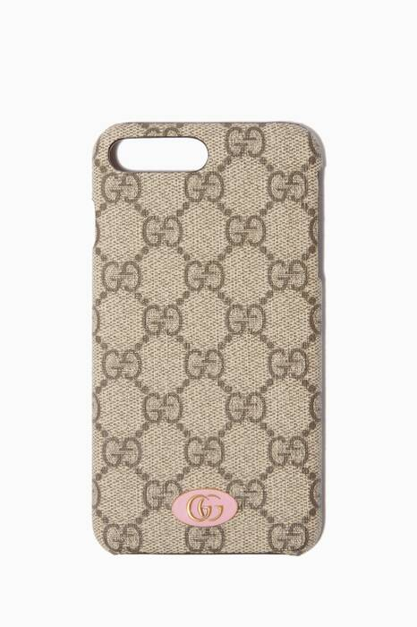 Brown GG Supreme Logo iPhone® 8 Plus Case