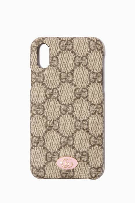 Brown GG Supreme Logo iPhone® X Case