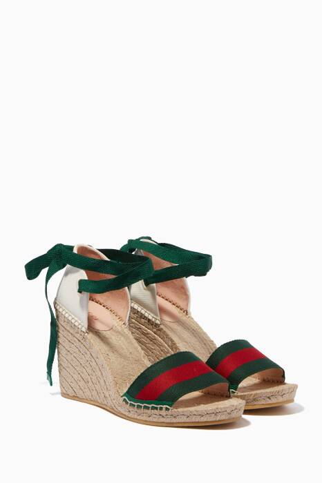 Multi-Coloured Lilibeth Web Espadrille Wedges