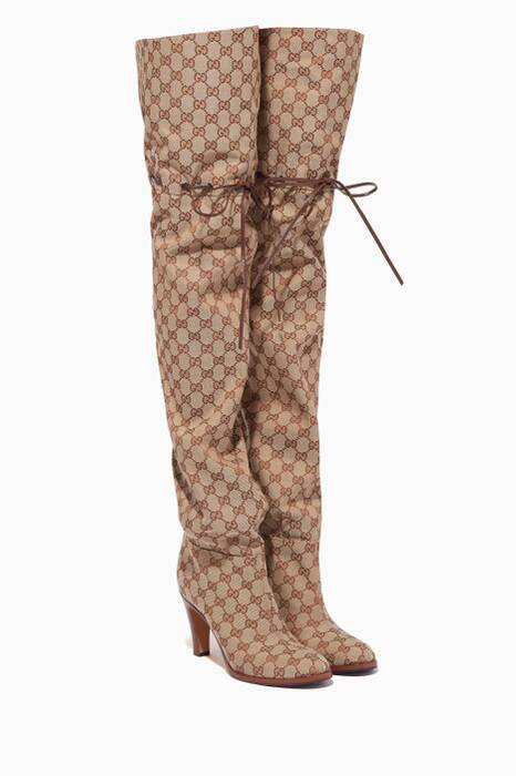 Original GG Canvas Over-The-Knee Boots