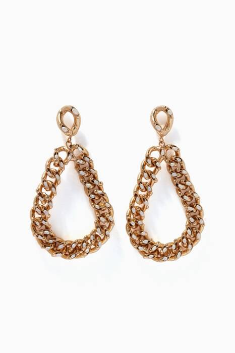 Gold Ingranaggio Drop Earrings