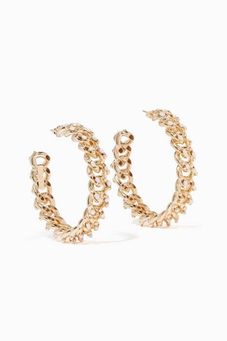 Gold Ingranaggio Hoop Earrings