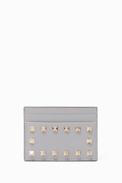 Light-Grey Rockstud Spike Cardholder
