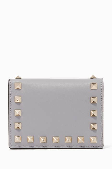 Grey Nappa Leather French Wallet