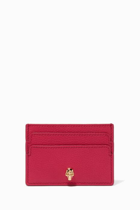 Deep-Orchid Small Leather Cardholder