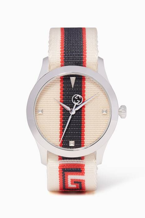White Striped G-Timeless Watch