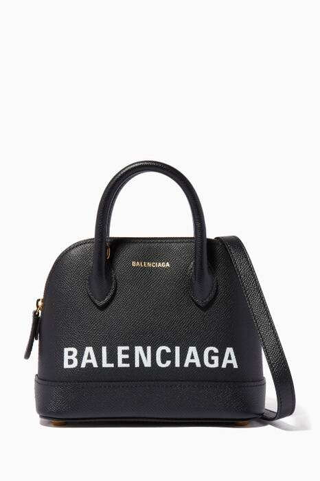 Black Nano Calfskin Graffiti-Logo Bag