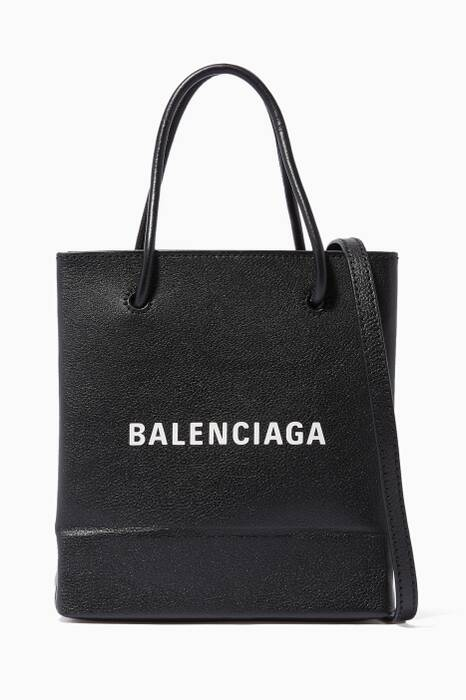 Black Nano Logo Shopping Tote