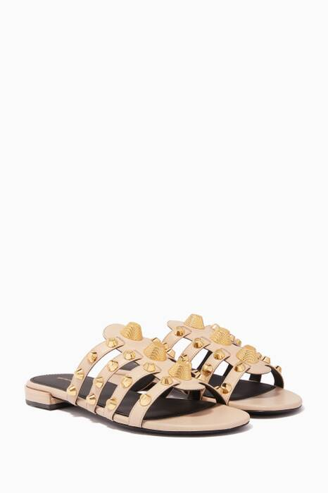 Beige Arena Giant Flat Sandals