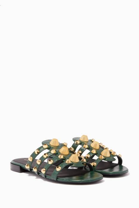 Dark-Green Arena Giant Flat Sandals