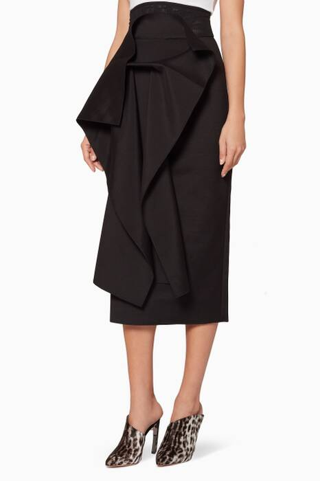 Black Ruffled Beasley Skirt